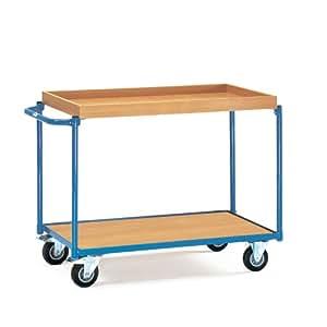 Fetra Leichte Tischwagen mit 1 Boden und 1 Kasten, Griff waagerecht