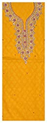 Astha Boutique Women's Cotton Kurta Fabric (Yellow)