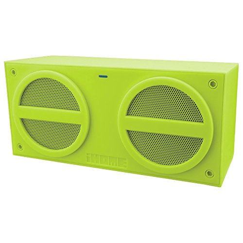 """Ihome Military Green Ibn24 Nfc? Bluetooth? Rechargeable Mini Stereo Speaker With Rubberized Finish Military Green Ibn24 Nfc? Bluetooth? Rechargeable Mini Stereo Speaker With Rubberized Finish 2.4000"""" L X 8.4300"""" W X 7.0100"""" H X"""