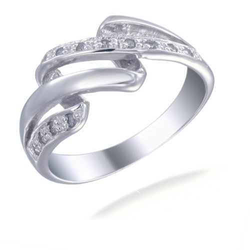 1/4 CT Diamond Promise Ring In Sterling Silver In Size O