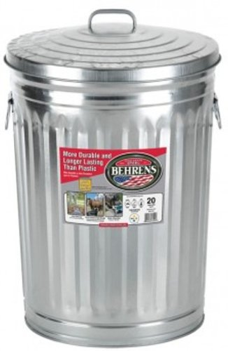 Garbage Can With Side Drop Handles - 20 Gallon 0