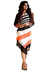 Maa Textile Women's white semi-Stitched kurtis(H178_white_free size)