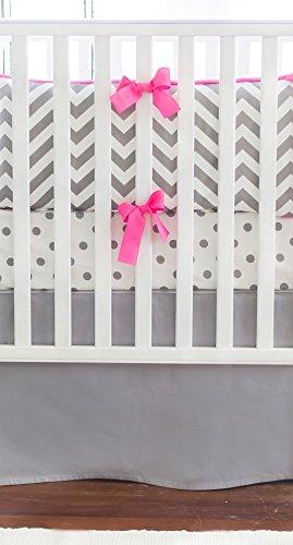 Hot Pink Crib Bumper