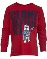 Lego Wear Jungen T-Shirt Star Wars THOR 153 - Clone Captain Rex T-SHIRT L/S
