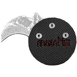 Mantis Knives Civilianaire Demon Edition,Black G100 Handle,Damascus Plain
