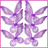 Purple Pixie Pointed Fairy Wings Assortment (6pcs)