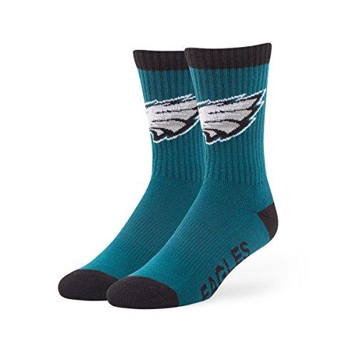 nfl-philadelphia-eagles-mens-47-bolt-casual-dress-crew-socks-pacific-green-medium-1-pack