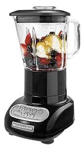 KitchenAid KSB565OB 5-Speed Blender with Glass Jar, Onyx Black