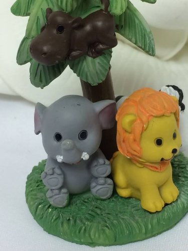 12 Jungle Safari Baby Animals Figurine Favor Favors Cake Top Gift Keepsake Box front-1054973