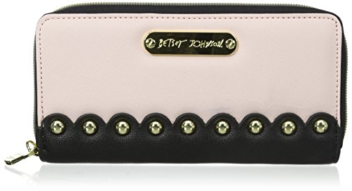 Betsey Johnson Studded Afair Wallet, Blush, One Size