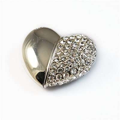 4GB Jewelled Magnet Heart USB 2.0 Flash Drive by USB-Memory