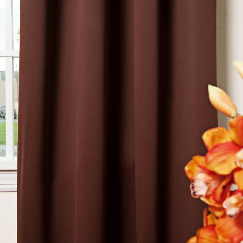 Best Home Fashion Thermal Insulated Blackout Curtains - Back Tab/ Rod ...