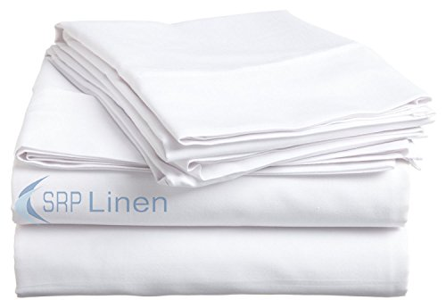Hotel Brand 1000 Thread Count 6-Piece Extra Deep Pocket Super Soft Sheet Set Fit Upto 24 Inches Deep Pocket King Size White Solid, 100% Egyptian Cotton @ 'hotellinen' (Extra Deep Sheets compare prices)