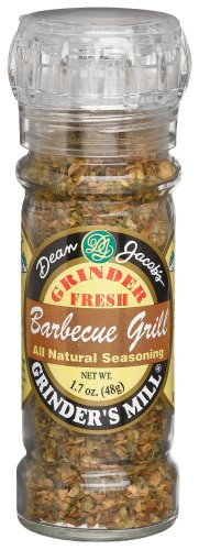 Dean Jacobs Barbecue Grill Seasoning, 2-Ounce Grinder Jars (Pack of 6)