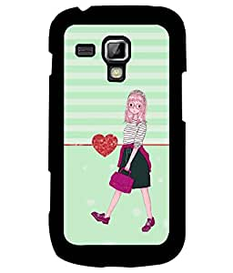 Fuson Premium Girl Outing Metal Printed with Hard Plastic Back Case Cover for Samsung Galaxy S Duos 2 S7582