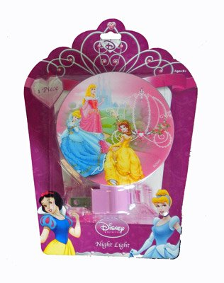 Disney Princess Night Light - Cinderella, Aurora, Belle with Carriage