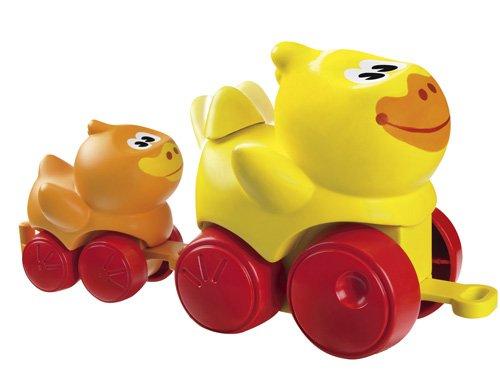 Imagen 1 de Hasbro Playskool Animalitos blanditos en familia Pato - Pato y bebé pato de plástico con ruedas