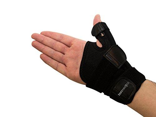 Bonmedico® Forte Polsiera flessibile con stecca, per proteggere le articolazioni metacarpo-falangee e il pollice nella vita di tutti i giorni e nello sport, ideale per il trattamento degli infortuni del pollice e dell'artrosi, da uomo e donna
