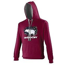 Banksy Wet Shaking Dog Mens Hoodie Hooded Sweater Hoody Graffiti Art TS313