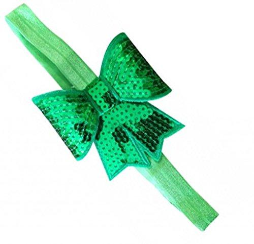 Pinkxenia Pinkxenia Green Pink Shabby Fower Diamond Newborn Babygirl Soft Headband (Multicolor)