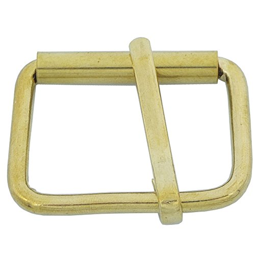 """Bluemoona 2 PCS - Solid Brass Buckles Single Prong Roller 42MM 1 5/8"""" X 20MM 3/4"""" for Belt Strap"""