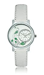 Geneva Platinum Analog Silver Dial Womens Watch- GP-185