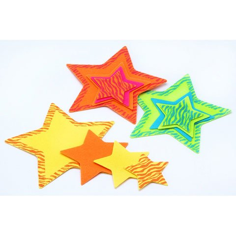 Bulk Buy: Darice Crafts for Kids Felties Felt Bases Stars Assorted Sizes 4 pieces (3-Pack) FLT-1802