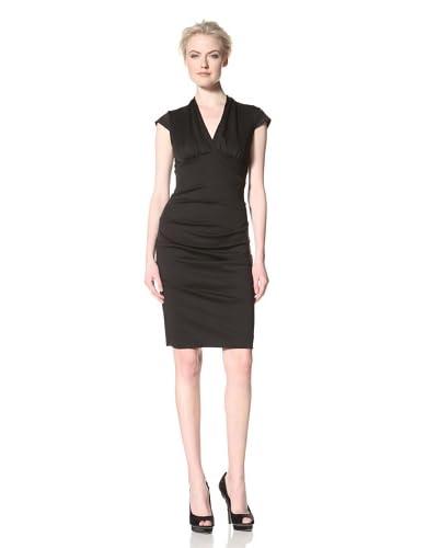 Nicole Miller Women's V-Neck Ponte Dress