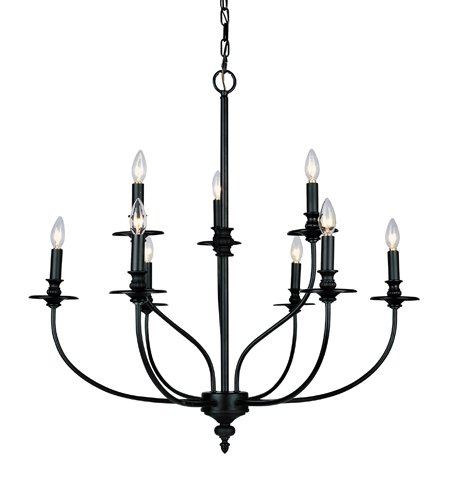 B000ROI4K2 Landmark 289-OB Hartford 9-Light Chandelier, 28-Inch, Oil Rubbed