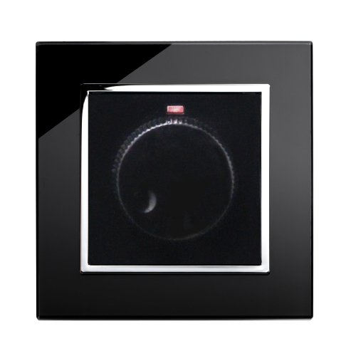 Retrotouch Rotary Dimmer Switch 1, Gang Black CT