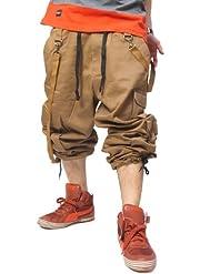 (ディーアンサー)DANCER ダンスパンツ ストレッチ カーゴ カラー パンツ ルーズストレート フィットネス ウェア トレーニング b系 ストリート系 ダンス 衣装