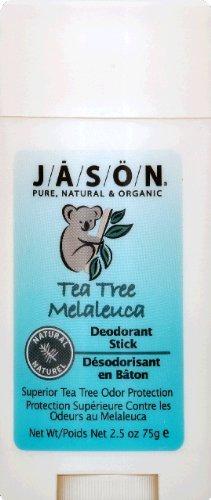 Jason Natural Products Tea Tree Deodorant Stick, 2.5 Ounce -- 6 Per Case.