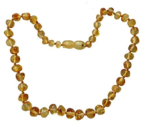 Umai Authentic LEMON Baltic Amber Teething Necklace