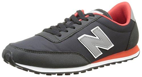 New Balance U410, Zapatillas Para Hombre, Negro (Black/Red/Grey), 43 EU