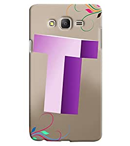 Clarks Letter T Hard Plastic Printed Back Cover/Case For Samsung Galaxy On 5