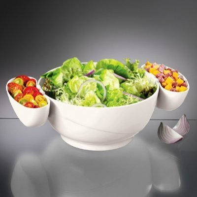 Prodyne Cd-10-W White Chips & Dips 3 Piece Bowl Set