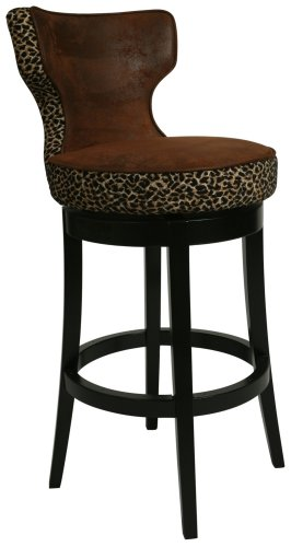 Magnificent Augusta Leopard Swivel 30 High Bar Stool Uopebusy Gmtry Best Dining Table And Chair Ideas Images Gmtryco