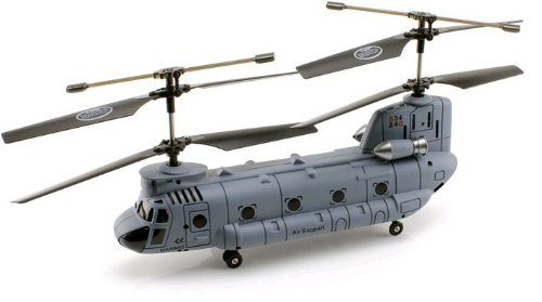 Syma 2.4Ghz 3.5ch Syma S034G S34G Chinook RC Helicopter with Gyro CH-47 Chinook Color May vary