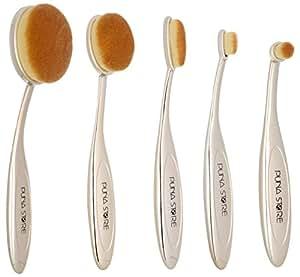 Puna Store® 5 Piece Oval Brush Set (Gold)