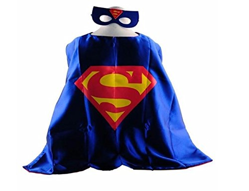 Superhero SUPERMAN CAPE AND MASK SET Super Hero **Ships from US**