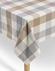 Pure Cotton Jumbo Checked Tablecloth