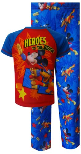 Mickey Mouse & Pluto Heroes To The Rescue Toddler Pajamas For Boys (3T) back-951986