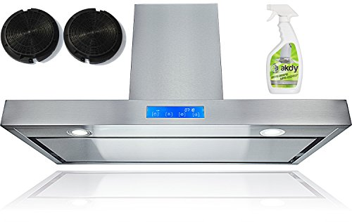 "Akdy 30"" Kitchen Wall Mount Stainless Steel Range Hood Az-62750Ps2 W/Flat Baffle Filters"