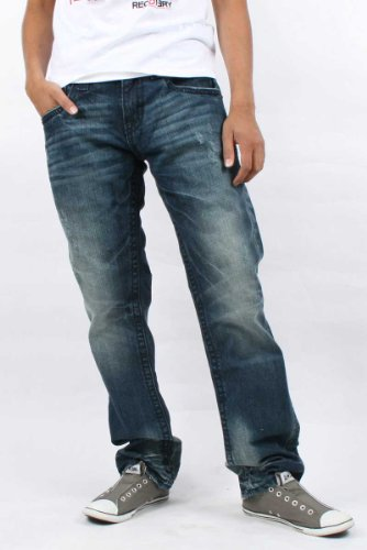 Rock Revival - Mens Timothy T Straight Leg Denim Jeans Color: 9T, Size: 31, Color: Denim