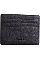 OMT Genuine Leather Card Case Wallet Card Slots and Id Case Front Pocket Credit Card Holder