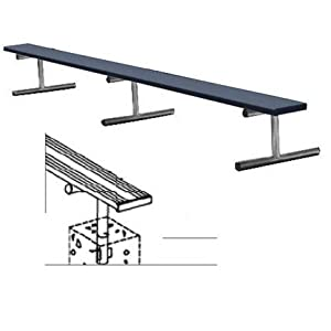 15' Color Heavy Duty Permanent Aluminum Bench without Back by Titan