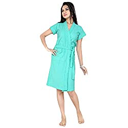 Superior Sea Green Bathrobe for Women