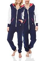 ZIPUPS Mono-Pijama Zipups (Azul Oscuro / Nata)
