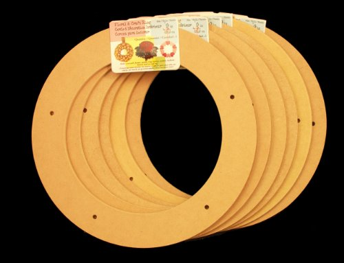 6 Pack, 9&#8243; Biodegradable Floral Craft Ring, Ez Glueable Wreath Form, for Photo Frame, Candle Ring, Etc