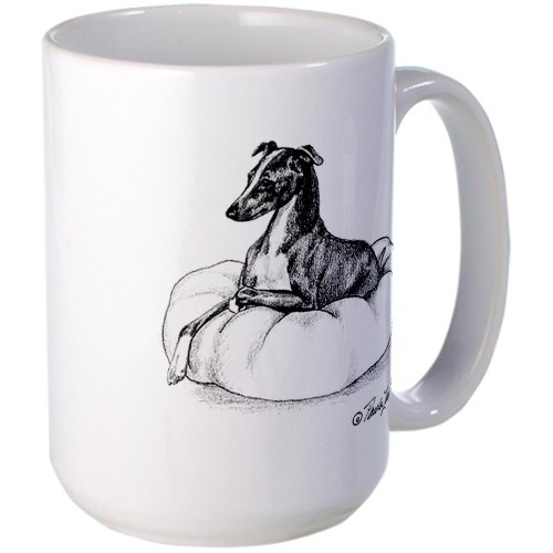 Cafepress Italian Greyhound On Pillow Large Mug Large Mug - Standard Multi-Color